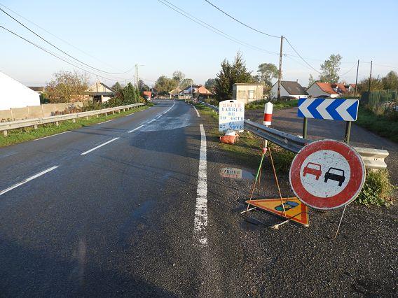 Les routes d'Hennuin et de Gravelines fermées du 19/10 au 27/11